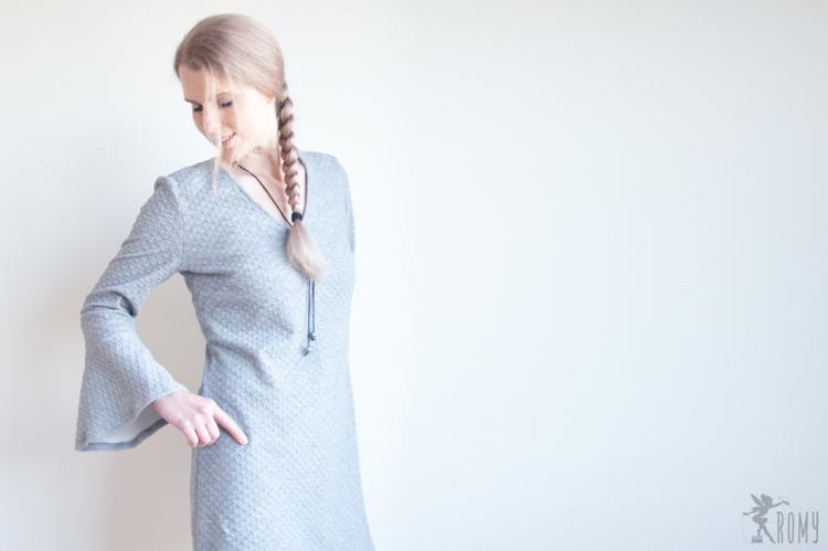 Kleid nach einem Schnitt aus der aktuellen burda style